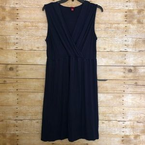 Merona Navy Blue Faux Wrap Sleeveless Jersey Dress